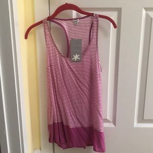 Splendid Pink striped tank